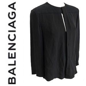 BALENCIAGA 100% pure silk top Size large